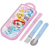 《SKATER》迪士尼公主抽屜式餐具組(立體皇冠)★funbox生活用品★_AT27267