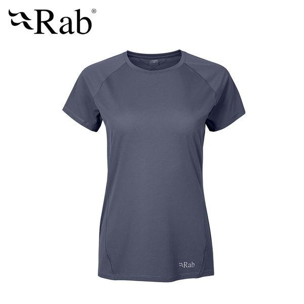 英國 RAB Force SS Tee 透氣短袖排汗衣 女款 鋼鐵藍 #QBU56