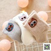 寶寶襪 寶寶襪子秋冬季0-3個月初生兒男全棉加厚保暖卡通嬰兒公主襪女1歲 快樂母嬰