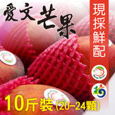 【MANGO HOUSE】枋山愛文芒果10斤/盒(20-24顆) 輸日等級 擁有生產追溯碼