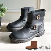 中筒靴 高質感扣帶中筒靴 MA女鞋 T7706