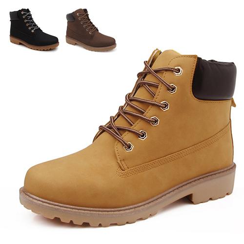 男款 英倫時尚中筒休閒黃靴 軍靴 馬丁靴 工作靴 59鞋廊
