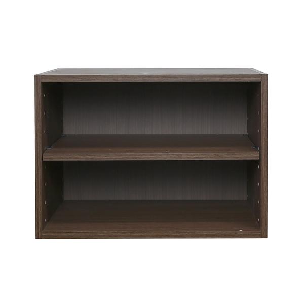 樂嫚妮 堆疊 二層收納空層櫃-層板可抽-淺胡桃木色