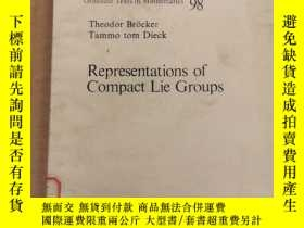 二手書博民逛書店Representations罕見of compact lie groups(P008)Y173412