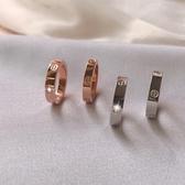 簡約風戒指女時尚個性食指指環男不掉色情侶對戒【倪醬小舖】