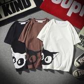 男士短袖T恤潮牌潮流個性修身港風半袖ins情侶上衣服韓版運動體恤tw