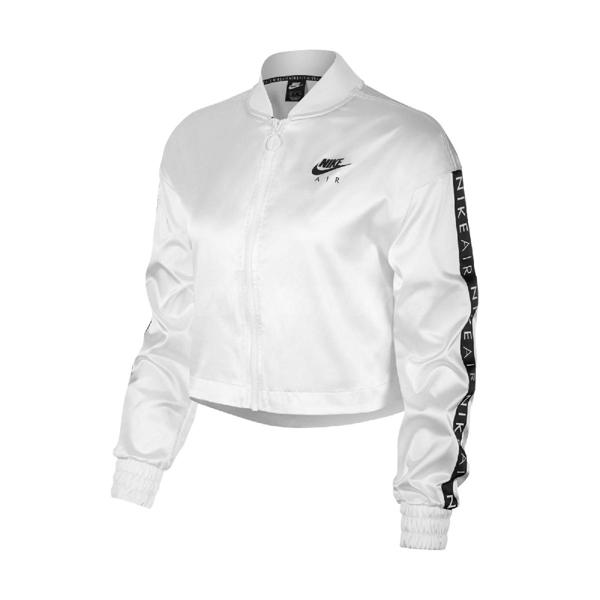 Nike 外套 Air Satin Track Jacket 白 黑 女款 立領外套 運動休閒 【PUMP306】 BV4780-100