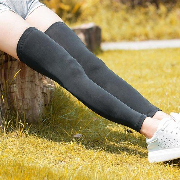 防曬腿套男女腿袖冰絲腳套運動護膝戶外跑步護腿冰涼美腿襪套  茱莉亞嚴選時尚