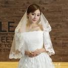 新娘頭紗新娘頭紗韓式蕾絲頭紗長軟短款結婚...
