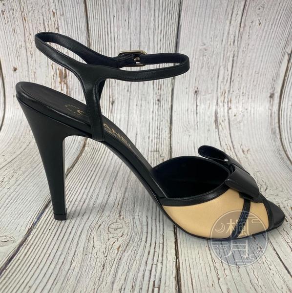 BRAND楓月 CHANEL 香奈兒 黑色 蝴蝶結 駝色 皮革 拼接 高跟鞋