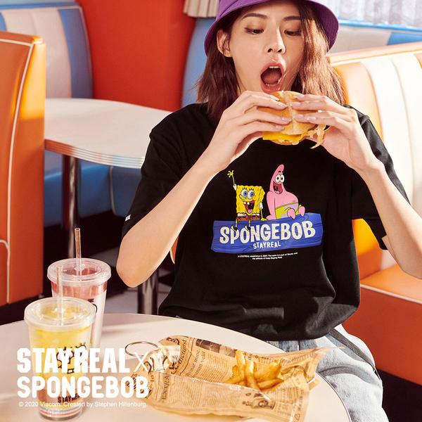 STAYREAL x SpongeBob 海綿寶寶好友T