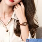 女錶復古女生手錶女學生韓版簡約時尚小巧皮...