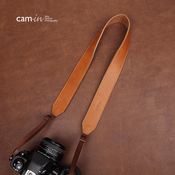 【數配樂】Cam-in 真皮皮革 皮質 寬版相機背帶 CAM 2233 棕色 760D 750D D5500 D3300 A97 80D 70D D7200