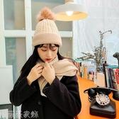 針織帽 帽子女冬韓版日系針織毛線帽男加絨加厚保暖月子帽可愛學生套頭帽 薇薇