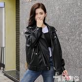 皮衣 小皮衣外套女短款2021年秋冬季新款韓版皮夾克加絨加厚寬鬆bf機車 曼慕