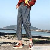 加絨牛仔褲女寬鬆韓版高腰老爹褲子女春秋2020新款怪味少女褲直筒  夏季新品