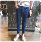找到自己品牌 四季小腳褲 藍色百搭休閑牛仔褲男 簡約水洗基本款