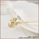 『坂井.亞希子』古樸典雅金屬植物珍珠點綴...