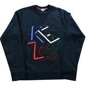 【KENZO】LOGO不規則圖案 男生厚款毛衣(藏青色)  F565SW1014ME 79