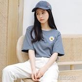 短袖t恤女寬松2020夏裝新款純棉韓版網紅潮小雛菊上衣半袖衣服