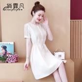 限時特價 氣質連衣裙子仙女超仙森系女裝夏裝年新款雪紡矮小個子女神范