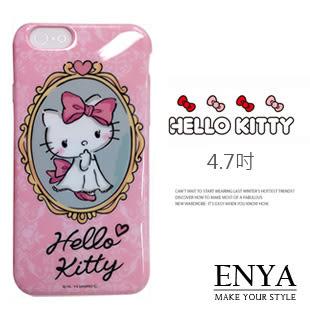 iPhone6/6S 4.7吋 日本三麗鷗 Kitty粉紅鏡台 手機軟殼 Enya恩雅