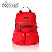 【eliana】HOLA系列輕時尚雙口袋後背包(魅力紅)EN128S01RD