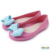 PIMPOLHO 艾莎蝴蝶結娃娃鞋-童-粉紅/藍