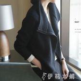 外套 毛衣女羊毛衫女高領短款韓版寬鬆開衫外套針織衫女 伊鞋本鋪