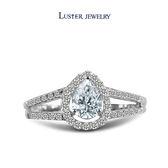 求婚戒‧梨形鑽石 LUSTER JEWELRY 綻藍之水 0.70CT  FVS2 鑽戒