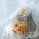 草編包 UGALS櫻桃diy材料包亞克力手工編織串珠水晶珍珠包包手提單肩小包 瑪麗蘇
