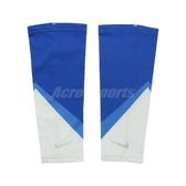 Nike 腿套 Cooling Calf Sleeves 藍 白 男女款 跑步 涼感 一雙入 【PUMP306】 N1000513-958