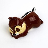 〔小禮堂〕迪士尼 奇奇 迷你趴姿造型陶瓷存錢筒《深棕》擺飾.撲滿.儲金筒 4942423-25567
