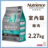 Nutrience紐崔斯『 INFUSION天然室內貓 (雞肉)』2.27kg【搭嘴購】