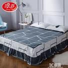 浪莎純棉床裙單件全棉1.5m床罩席夢思床套防塵防滑雙人1.8米床單 3C優購