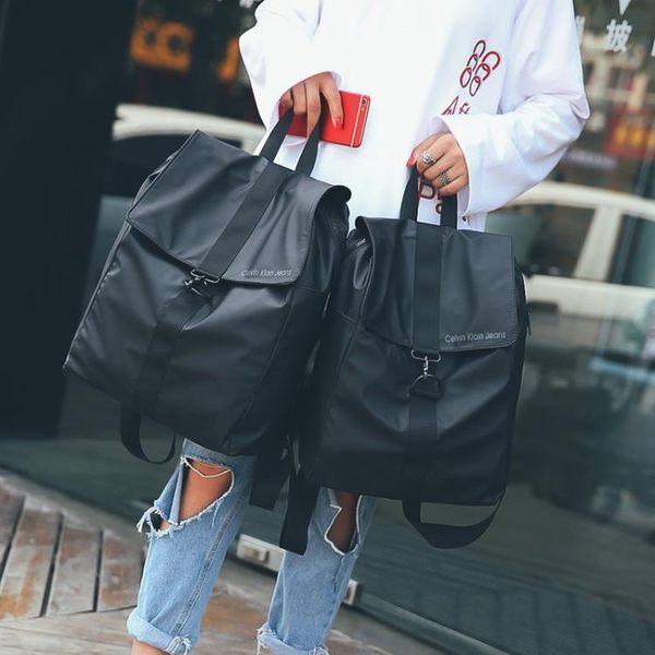新品簡約防水尼龍布後背包雙肩男女韓製潮學生休閒旅行後背包  快速出貨 尾牙鉅惠