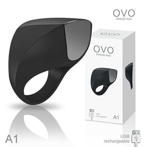 男用震動環 情趣用品  德國OVO A1 時尚男性 矽膠靜音時尚震動環 充電式
