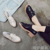 牛津鞋 復古軟妹小皮鞋子女學院風春秋新款厚底粗跟蝴蝶結女鞋子 唯伊時尚