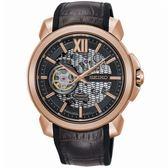 【台南 時代鐘錶 SEIKO】精工 Premier 喬科維奇限量款機械錶 SSA374J1@4R71-00A0K 玫瑰金 43mm