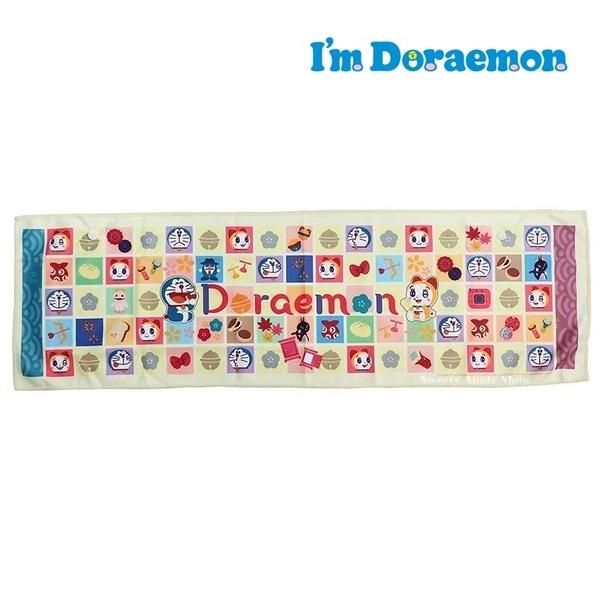 日本限定 哆啦a夢 和風格圖版 抗UV 接觸冷感 長版毛巾 20×70cm