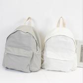 後背包 素色 文藝 拉鍊 雙肩包 帆布包 學院風 休閒-手提包/後背包【AL060】 ENTER  09/20