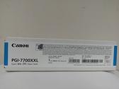 【含稅】Canon 佳能 高容量 藍色原廠墨水匣 WG7740/WG7750F GI-7700XXL C GI-7700