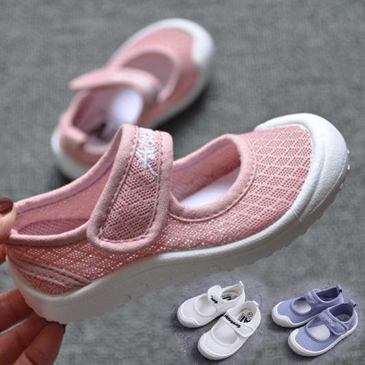 透氣網眼黏貼布鞋 可當幼稚園室內鞋 帆布鞋 室內鞋 兒童 橘魔法 Baby magic 現貨 童鞋 便鞋 涼鞋