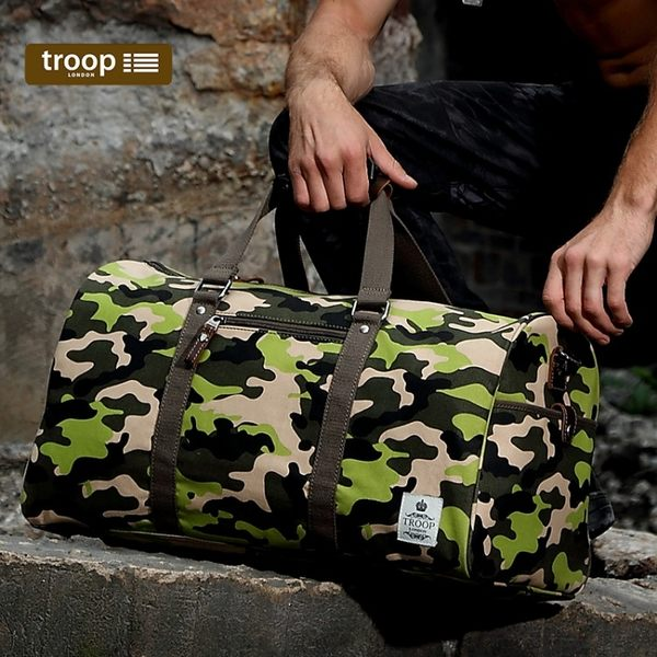 【TROOP】都會時尚URBAN旅行包/TRP0406CF(迷彩色)