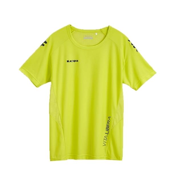 KAPPA義大利型男吸濕排汗速乾KOOL DRY 彩色圓領衫 合身版 岩草綠