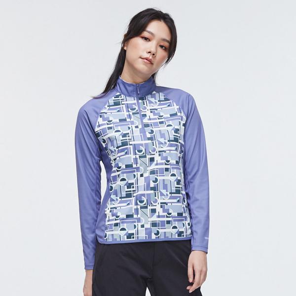 【下殺↘990】ADISI 女UPF50+防曬長袖半門襟排汗衣AL2011069 (S-2XL) / 城市綠洲