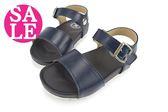 女童涼鞋 台灣製 簡約風格配色 百搭 輕量 兒童涼鞋 I6597#藍色◆OSOME奧森童鞋  零碼出清