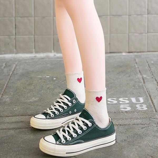 促銷 長襪子女韓版ulzzang中筒襪韓國可愛日系愛心網紅款夏季潮ins薄款