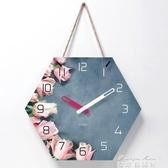 掛鐘 北歐掛鐘客廳裝飾創意時鐘掛墻現代簡約超靜音臥室家用鐘錶免打孔 麥琪