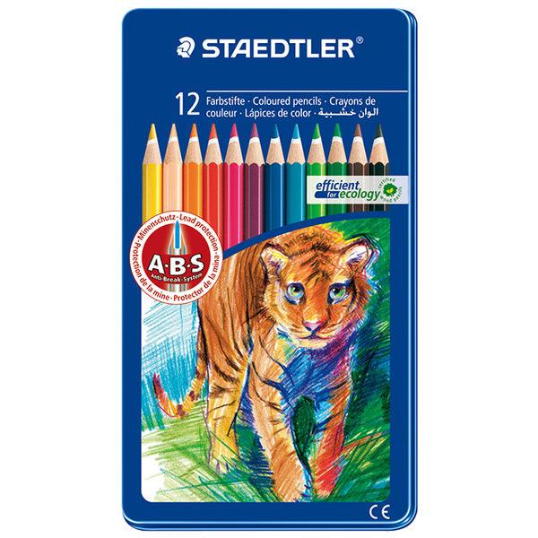 施德樓 MS145 AM12 快樂學園油性色鉛筆12色組-動物篇